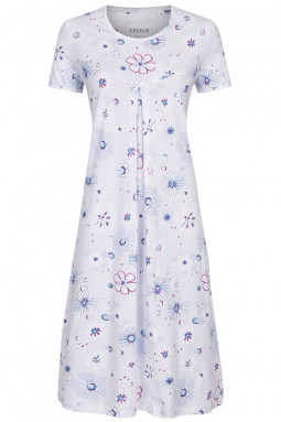 Cotton nightdress Light Blue
