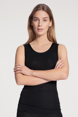 True Confidence woolsilk top Black