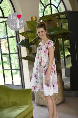 Cotton nightdress Lilac