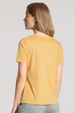 Lyhythihainen pusero Sunny Yellow