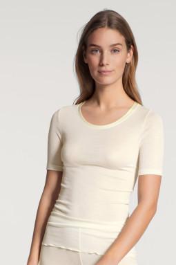 True Confidence шерст-шелк t-футболка Cream