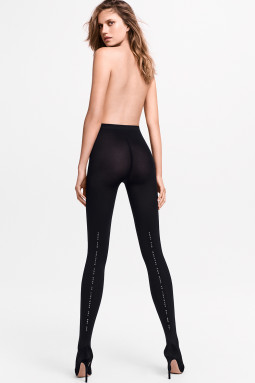 Emily Tights Black/Silver