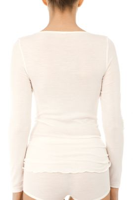 True Confidence woolsilk undershirt Cream