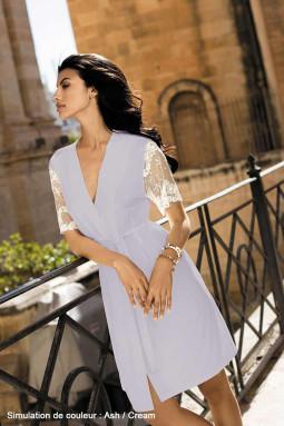 Allure dressing gown Ash/Cream