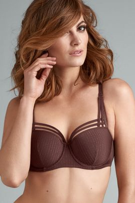 Dame de Paris balconette-rintaliivi Chestnut Brown