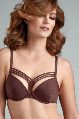 Dame de Paris push up-rintaliivi Chestnut Brown