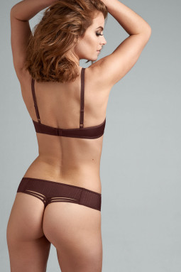 Dame de Paris string-housu Chestnut Brown