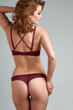 Backstage Boudoir string-housu Bordeaux