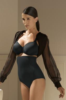 PERLE korkea muotoileva alushousu Charcoal