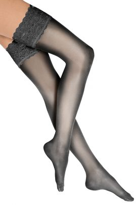 Satin Touch Stay up Black