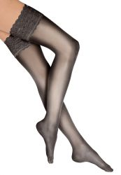 Satin Touch 20 stay up Nearly Black