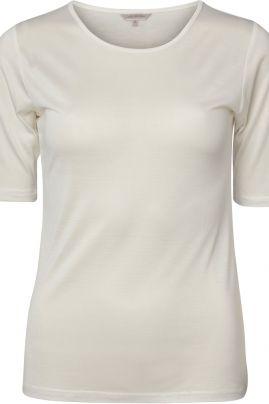 Pure Silk t-paita Luonnonvalkoinen