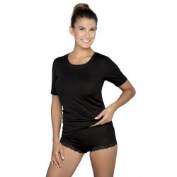 Pure Silk t-paita Musta