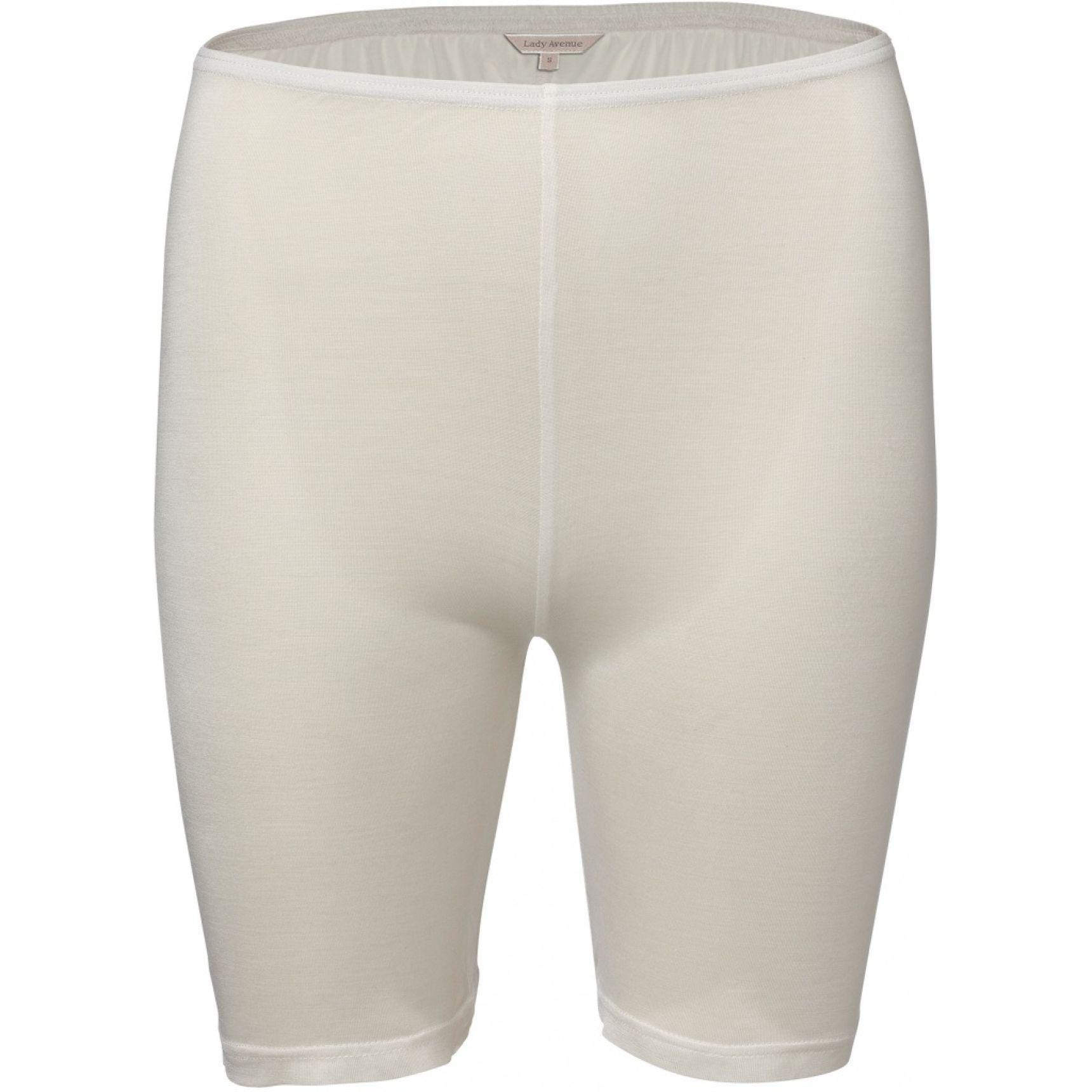 Pure Silk lyhytlahkeinen housu Luonnonvalkoinen
