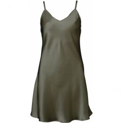 Pure Silk nightdress Olive