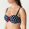 Pop topattu balconette bikiniliivi Blue Eclipse