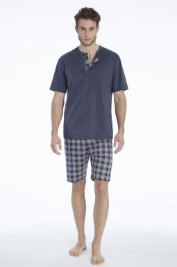 Quentin lyhyt pyjama Jet Grey