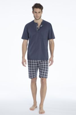 Quentin short pyjama Jet Grey