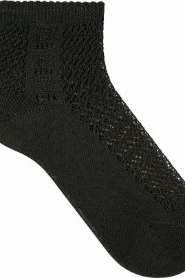 Basketwork -pitsisukat Musta