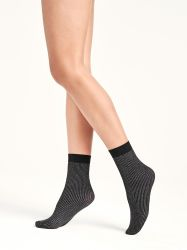 Dora Socks Black/Silver