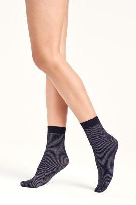 Dora Socks Navy Opal / Silver