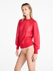 Light Shadow Pullover Poppy Red
