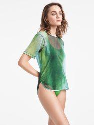 Tulle Shirt Ocean Print