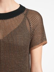 Macro Fish Scale Tunic Beach Sand/Black