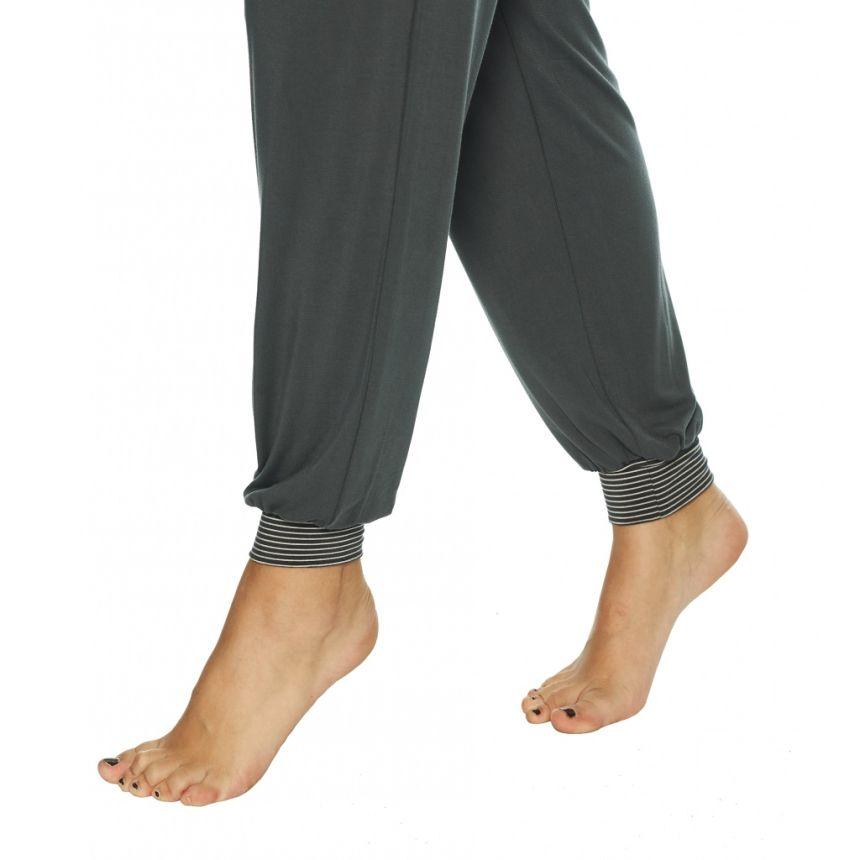 Pitkähihainen bambupyjama Grey/Rose Dots