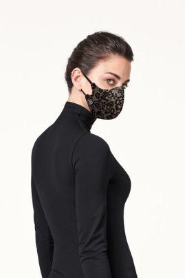 Кружевная шелковая маска