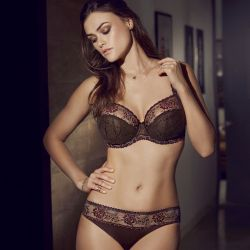 Golden Dreams full cup bra Wenge