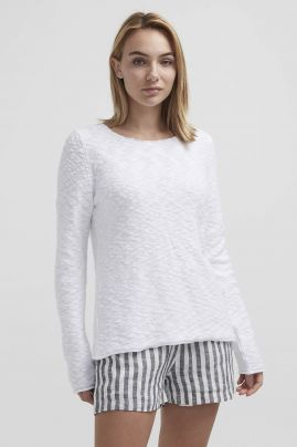 AMELIE CREW knitted sweater White