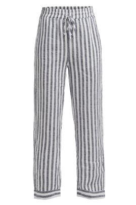 SOLINA-housut Navy/Luonnonvalkoinen