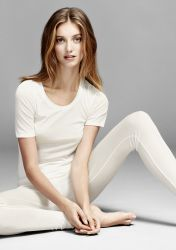 True Confidence woolsilk leggings Cream
