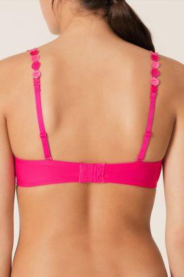 TOM topattu pisaramallinen rintaliivi Electric Pink