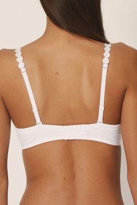 TOM topattu pisaramallinen rintaliivi Valkoinen