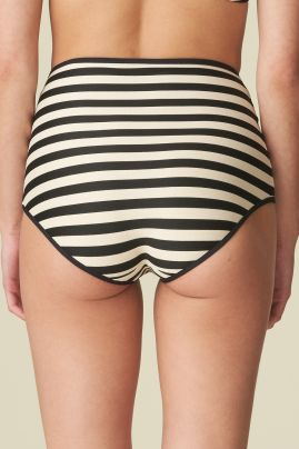 MERLE korkea bikinihousu Noir Rayure