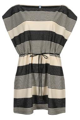 MERLE beach dress Noir Rayure
