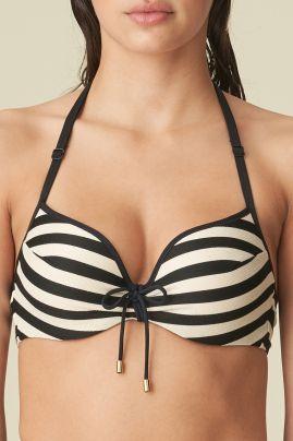 MERLE pisaramallinen bikiniliivi Noir Rayure