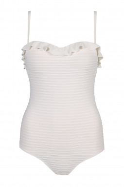 CELINE strapless padded swimsuit Natural