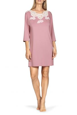 Nightdress with lace neckline Rose