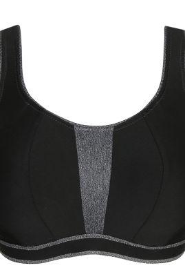 The Sweater kaarituellinen urheiluliivi Musta