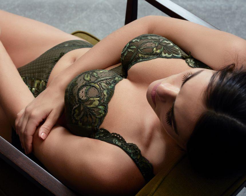 Madison täyskuppinen rintaliivi Kaki