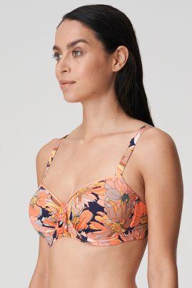 MELANESIA topattu balconette bikiniliivi Coral flower