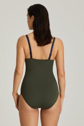 OCEAN DRIVE shaping swimsuit Dark Olive