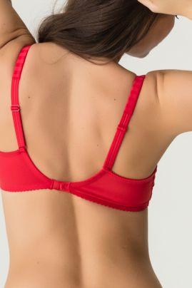 MADISON topattu pisaramallinen rintaliivi scarlet