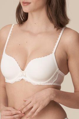 Pearl heartshaped bra Natural
