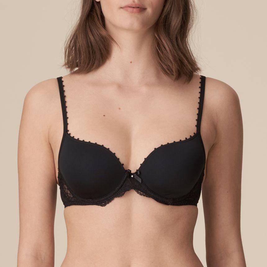 Pearl pisaramallinen rintaliivi Musta