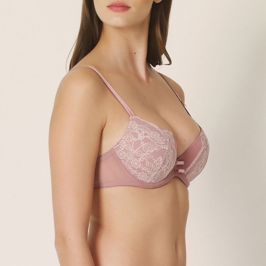 Erika push up -rintaliivi Ancient Rose