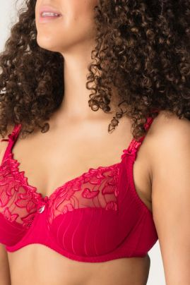 Deauville full cup bra Persian Red